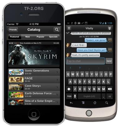 Steam на Android и iOS