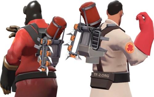 Scrap Pack - промо-предмет для Медика и Поджигателя из игры Shoot Many Robots